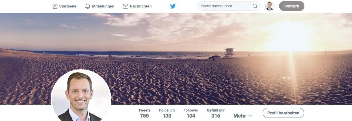 Twitter Profil Carsten Wittmer